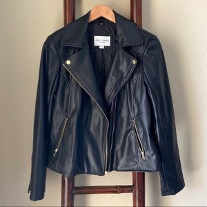 COLE HAAN * Like NEW Vegan leather Moto jacket